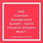 CMS (Content Management System - İçerik Yönetimi Sistemi) Nedir?