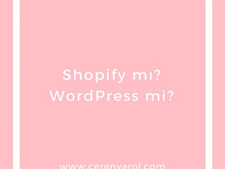 Shopify mı WordPress mi  / Shopify vs WordPress